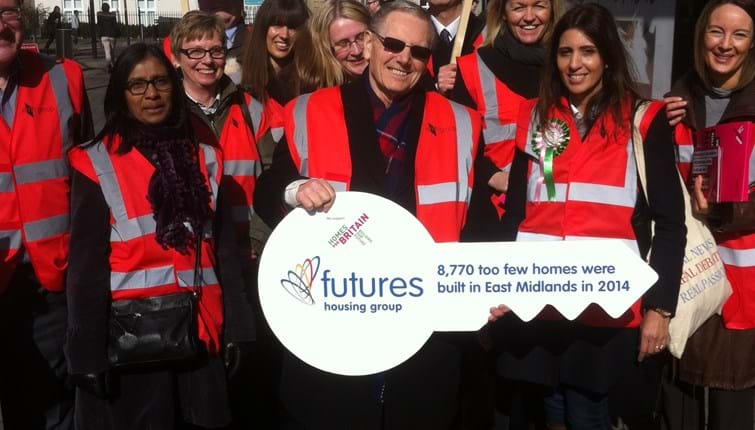 emh group join Leicester rally to support national Homes for Britain campaign