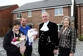 New affordable homes opened by High Sheriff of Leicestershire