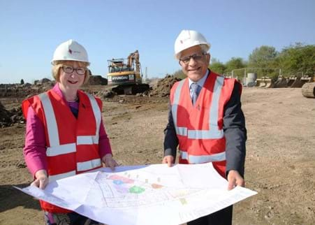 Maggie Throup and Chan Kataria survey the plans-800.jpg