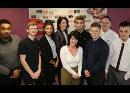 Adrian Cheetham and the new 2017 apprentices