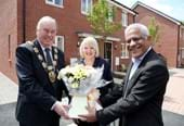 Mayor opens new homes in Wellingborough