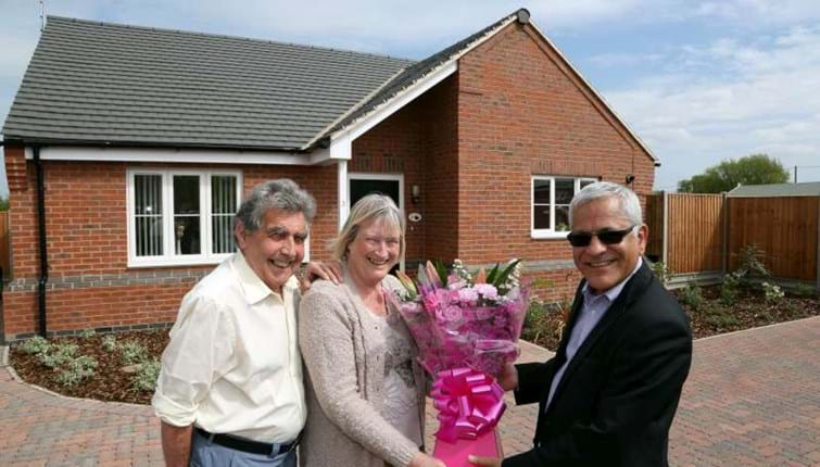 New rural homes enable couple to return to village