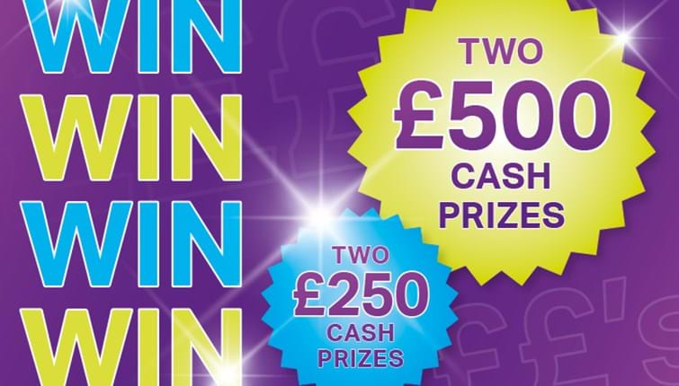 Cash prizes available for keeping your rent account up to date!