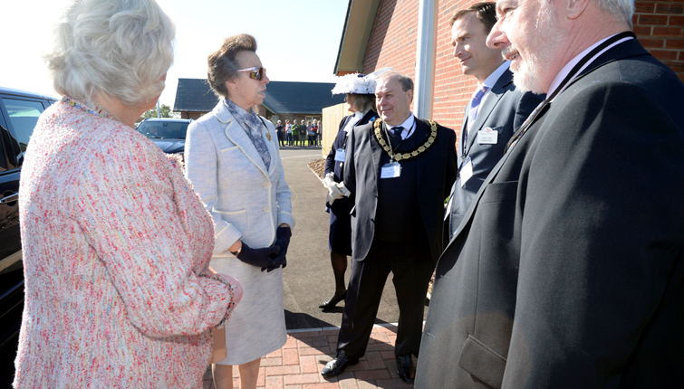 HRH The Princess Royal Meeting with our Chairman, Derrick Dyas